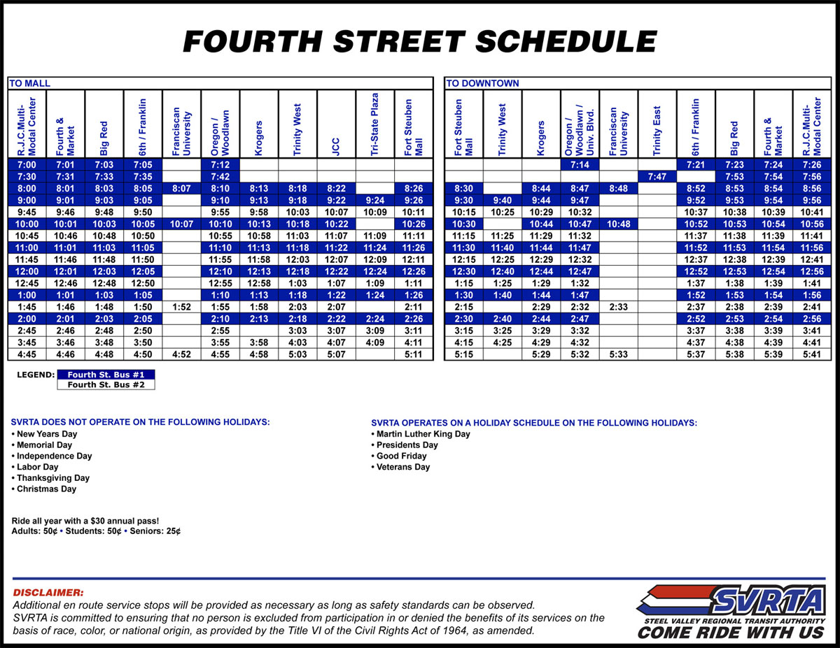 steel valley regional transit authority - svrta